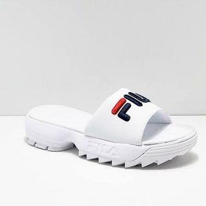 FILA Women's Disruptor Platform White Sandals